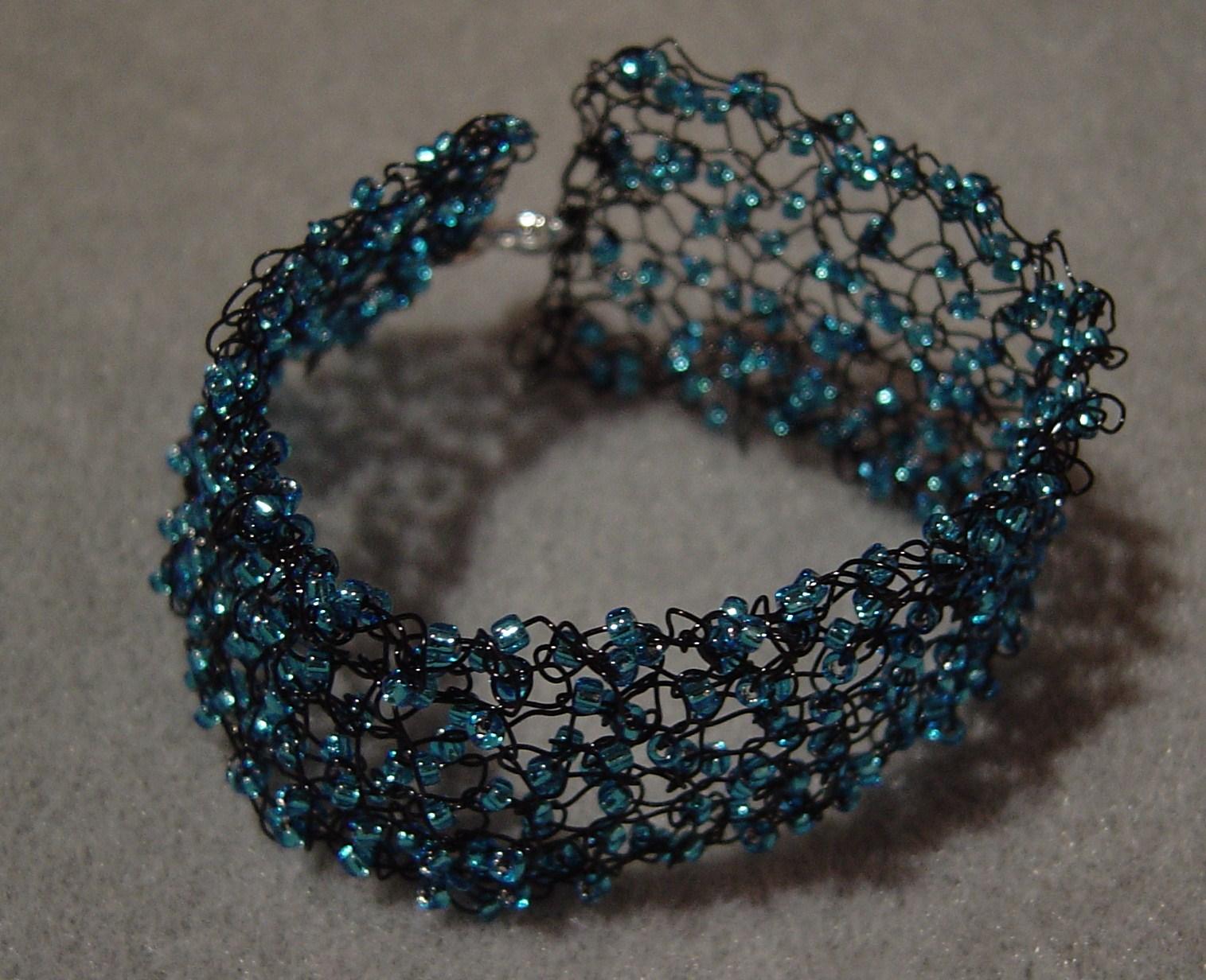 angela smith jewellery how to knit a bracelet