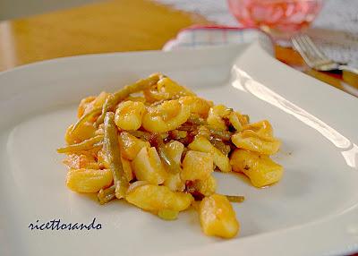 Gnocchetti | maloreddus e fagiolini ricetta primi