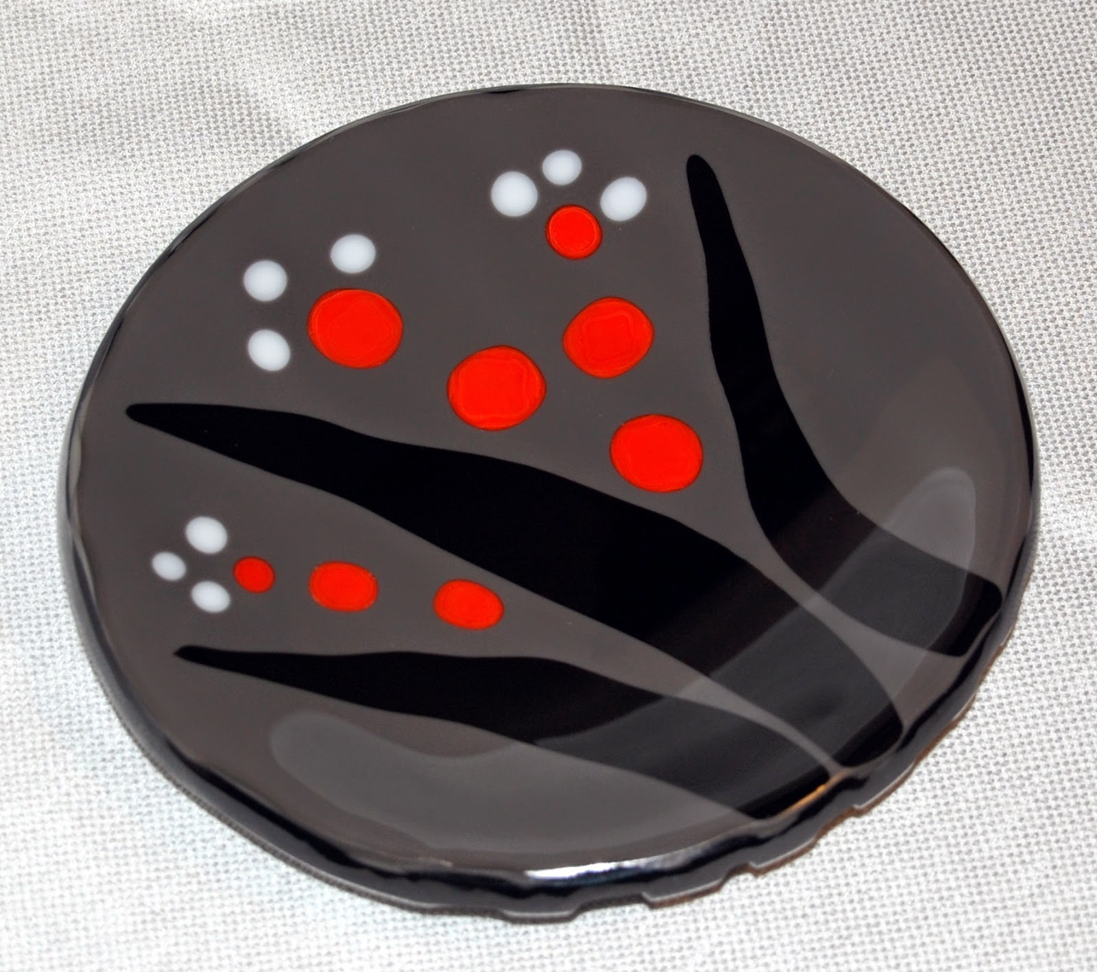 "8"" fused glass bowl"