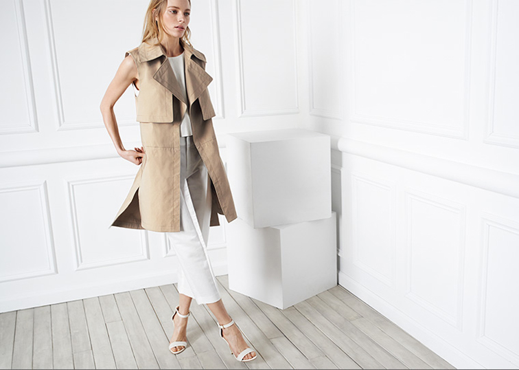 Club Monaco collection sleeveless trench
