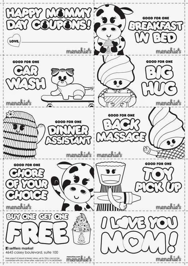 Fro Yo Girl Speaks Mother S Day Froyo Specials Menchies Coloring Pages