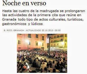 Un éxito de la primera Noche en Blanco de Granada