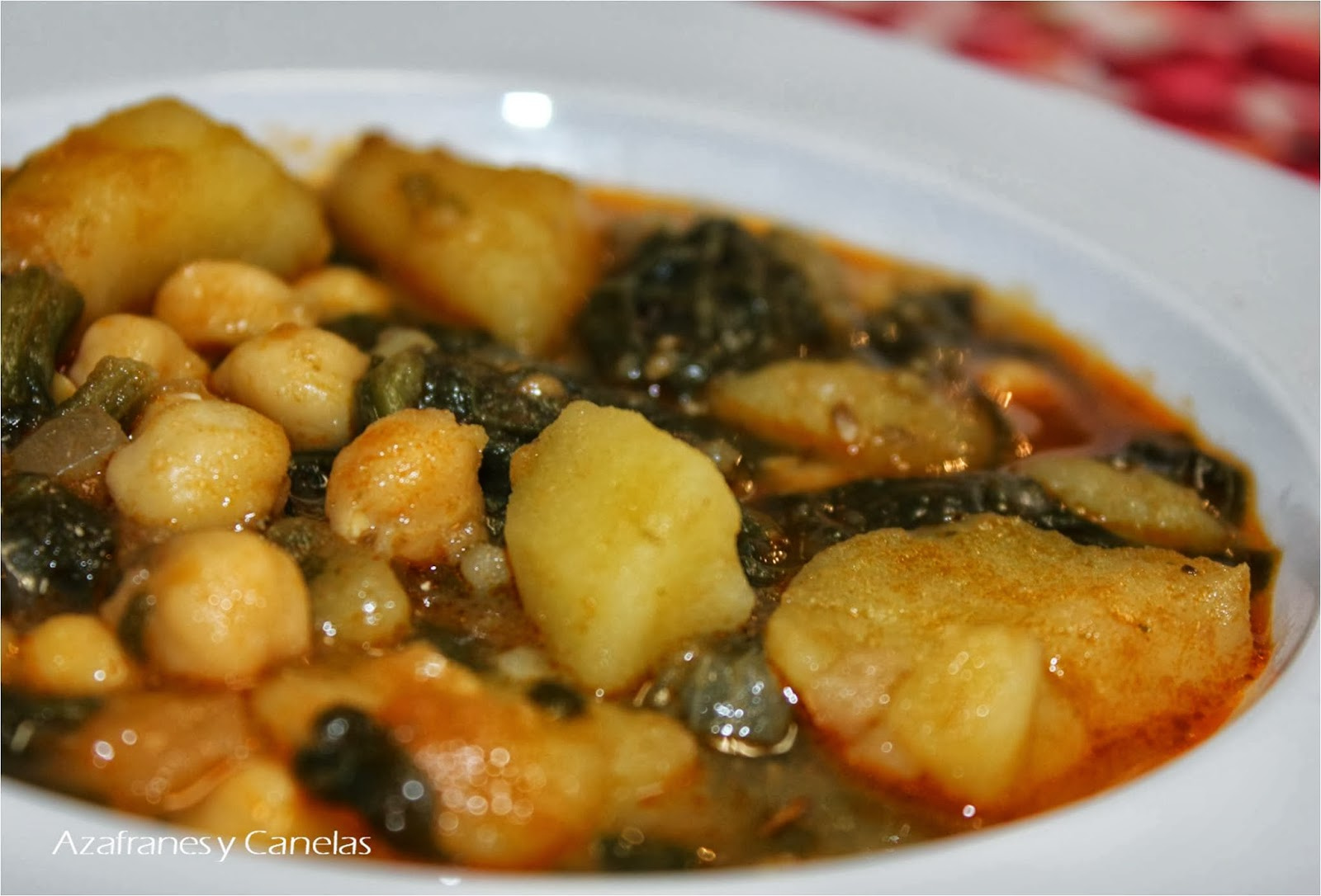 Potaje de garbanzos con espinacas asaltablogs - Potaje garbanzos con arroz ...