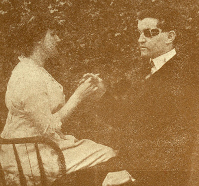 instructor and student from the California School for the Deaf and Blind in 1920