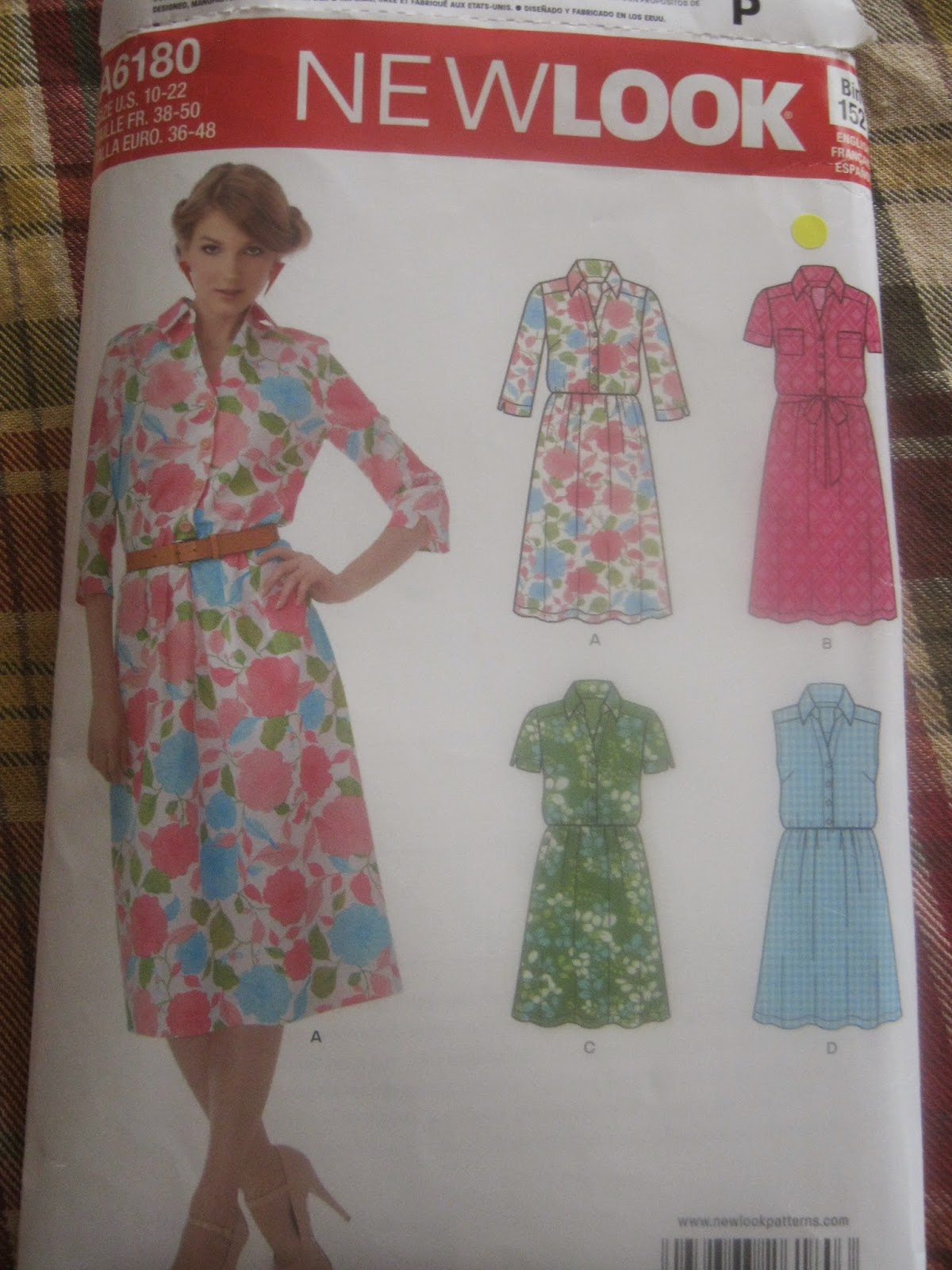 New Look A6180 Shirt Dress Pattern www.sewplus.blogspot.com