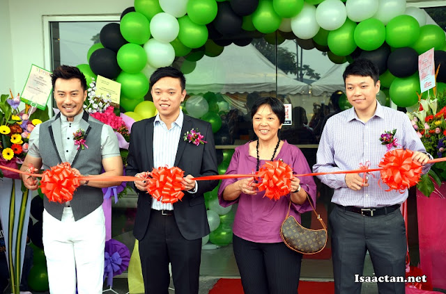 Ribbon Cutting Ceremony by Mr Low, and VIPs