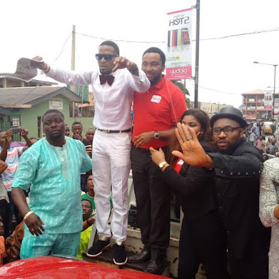 Dbanj made ambassador for Slot and gets a Porsche car.