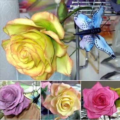 Rosen für Hochzeitstorte mit Fondant