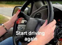 Intention #7 - Start Driving Again - woman's hands on steering wheel
