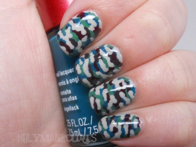 Holy Manicures Camouflage Nails