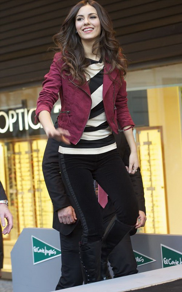 Fashional woman popular drama girl actress victoria justice in madrid