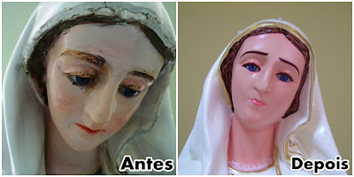 Restauração das Imágens de Nossa Sra. de Fatima e Santa Luzia