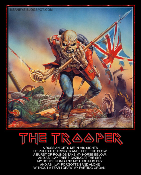 Iron Maiden The Trooper Poster With Video