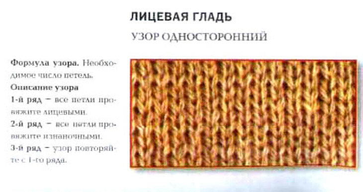 Вязание спицами как вязать лицевую гладь