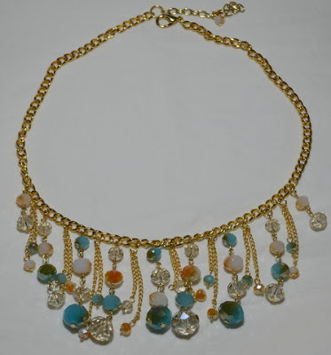 Gold, drop bead necklace