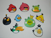 Angry Bird Magnets!! We did tootsie pops also, I just printed some bird .