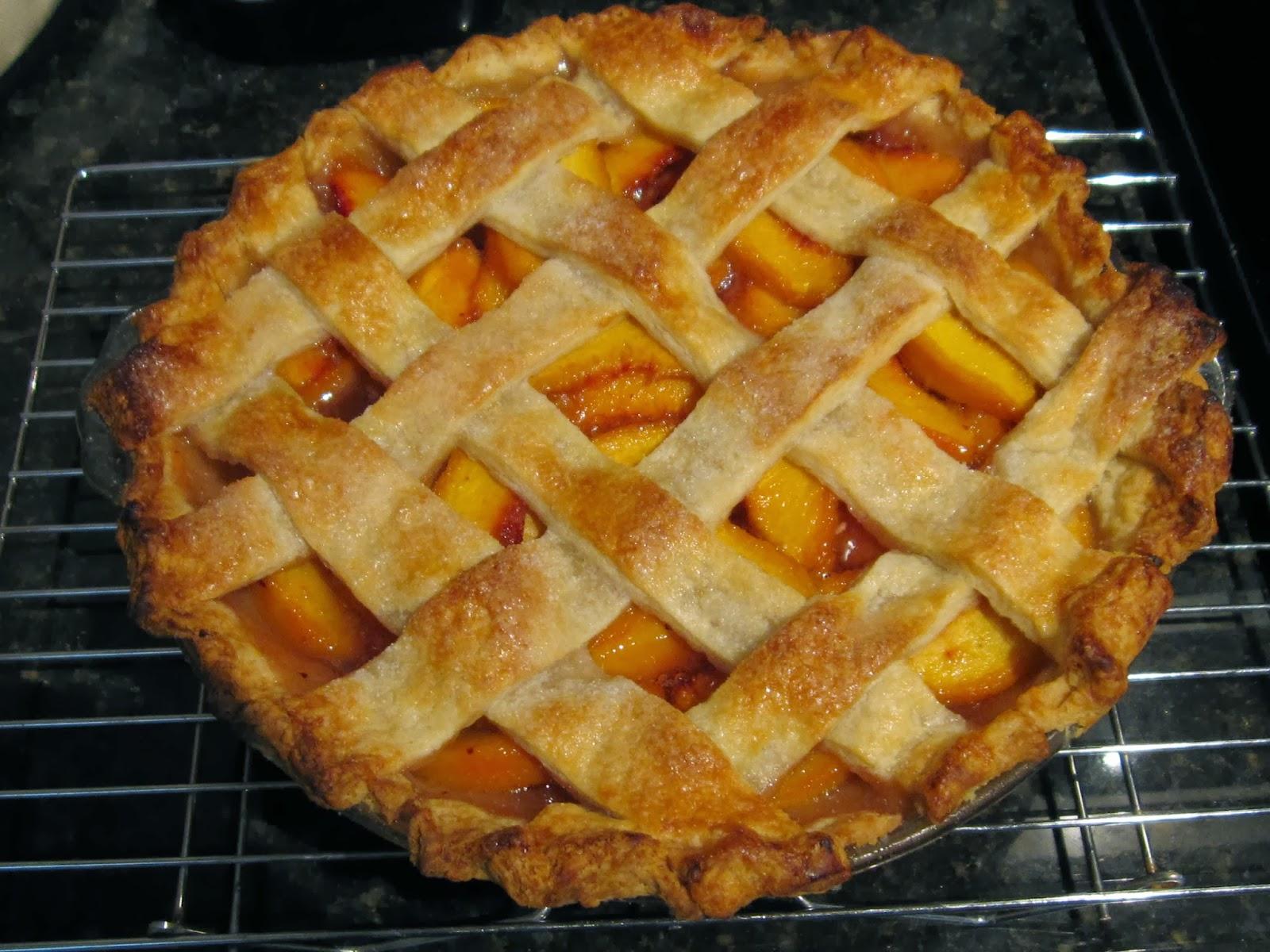 hannah in the kitchen lattice top peach pie - Americas Test Kitchen Apple Pie