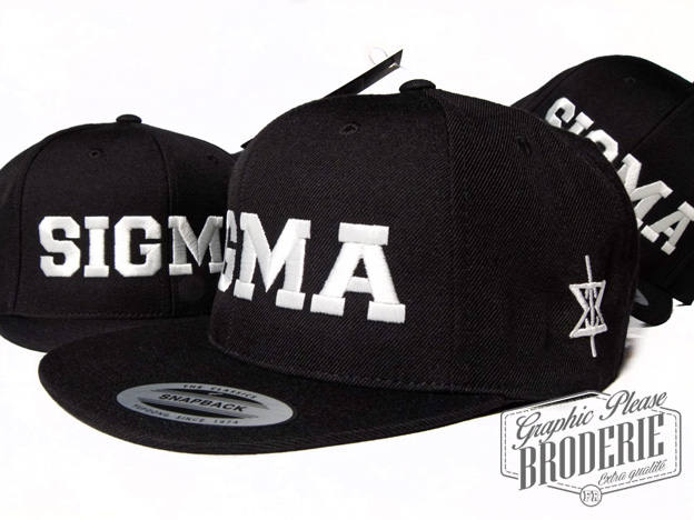 broderie graphic please marquage sur textile broderie sur snapback flexfit yupoong logo sigma. Black Bedroom Furniture Sets. Home Design Ideas