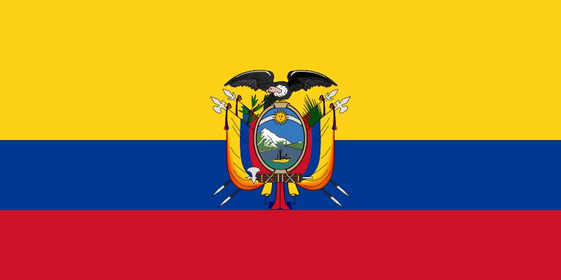 bandera escudo ecuador para