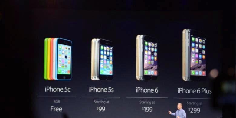 Daftar Harga iPhone 6 dan iPhone 6 Plus