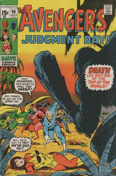 Avengers #90, Cavemen, Sal Buscema cover