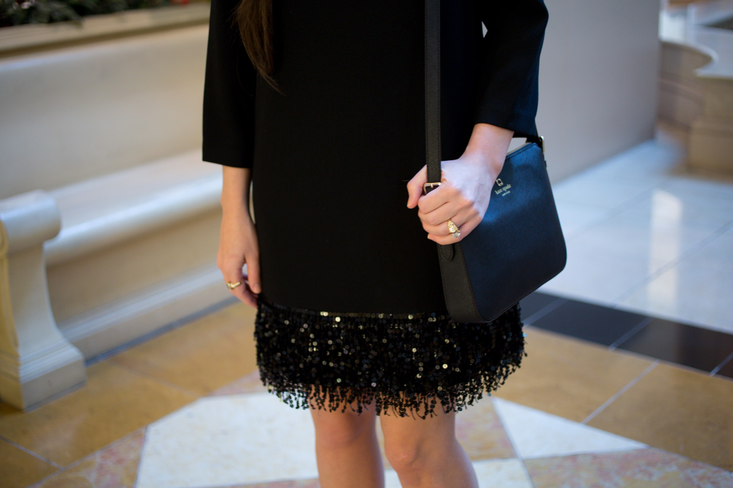 Kate Spade Sequin Fringe Mini Dress