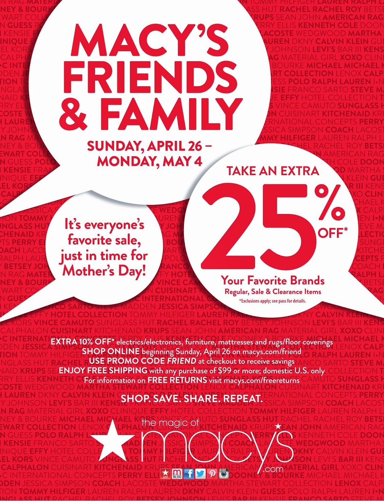 Macy's Herald Square Friends and Family sale
