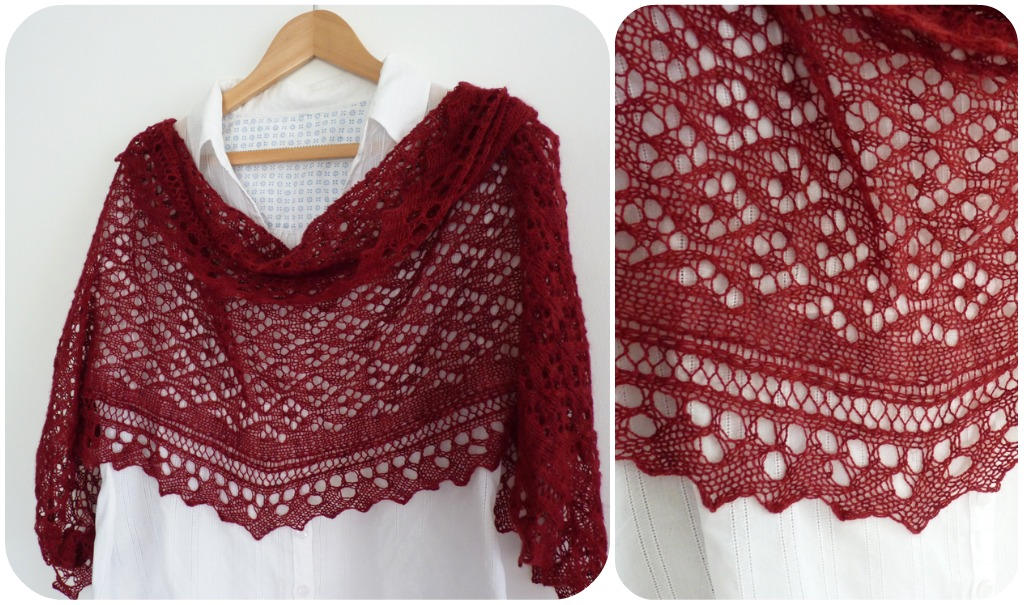 Free Knitted Shawl Pattern : Madelines Wardrobe: FREE KNITTING PATTERN: Cyrcus Lace Shawl