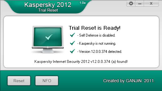 Kaspersky Crack 2012 - это программа сбрасывает Trial-счетчики в антивирусн