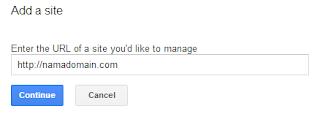 menambahkan atau add a site di google