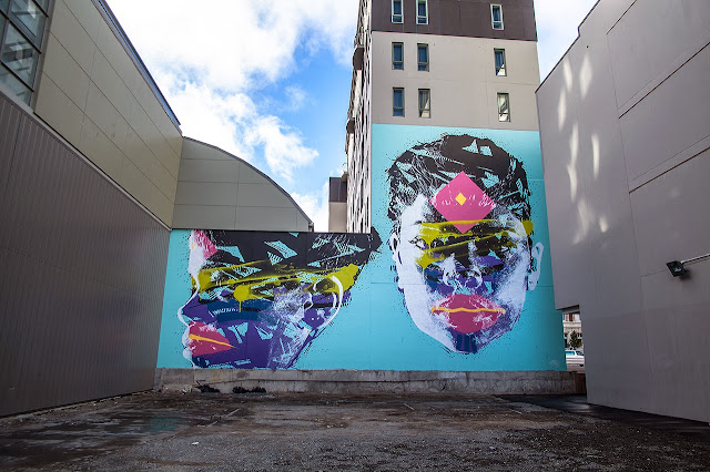 New Street Art Portraits by Australian Artist Askew in New Zealand For Rise Urban Art Festival. 5