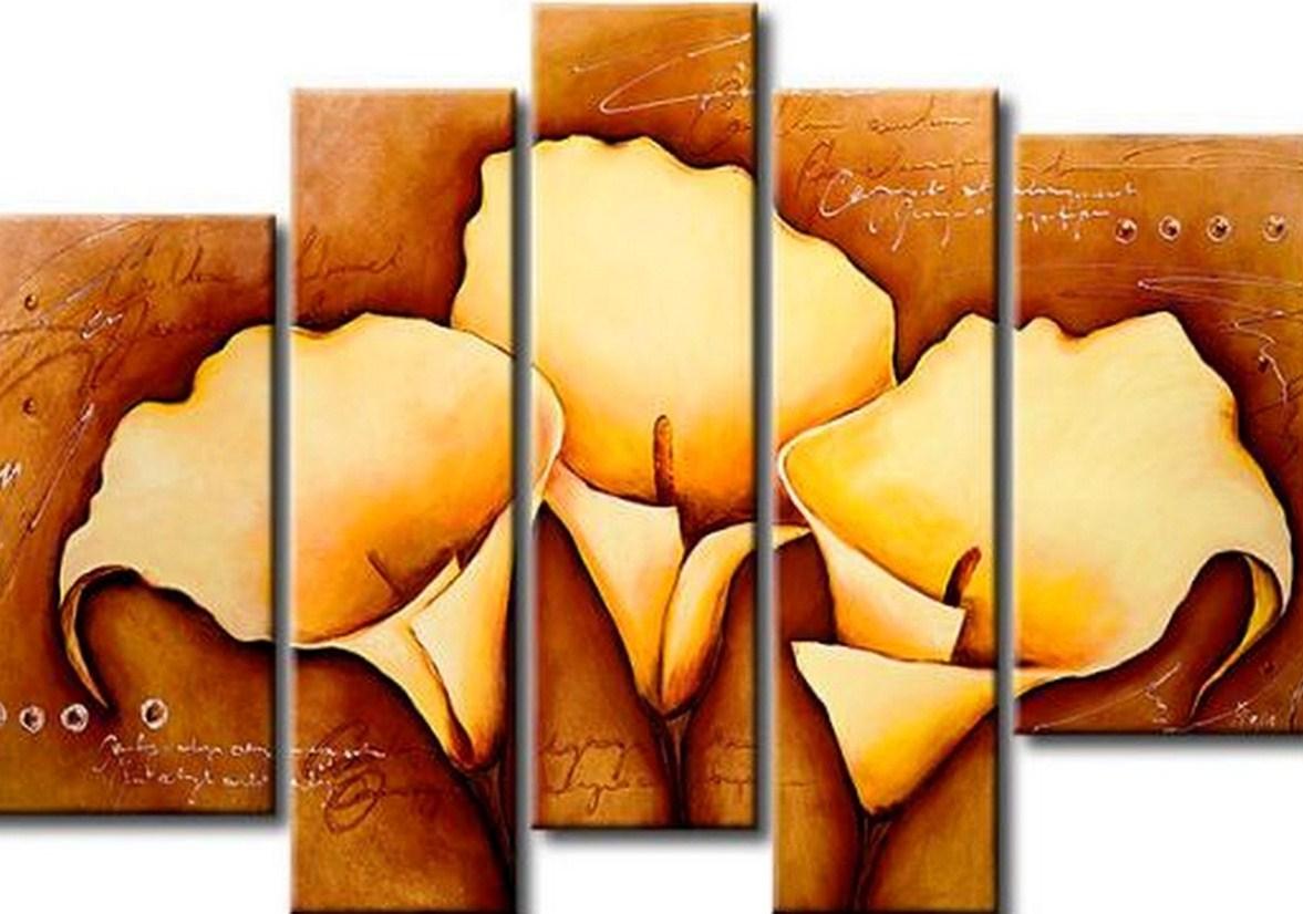 Pinturas cuadros lienzos pintura moderna flores - Como hacer cuadros abstractos modernos ...