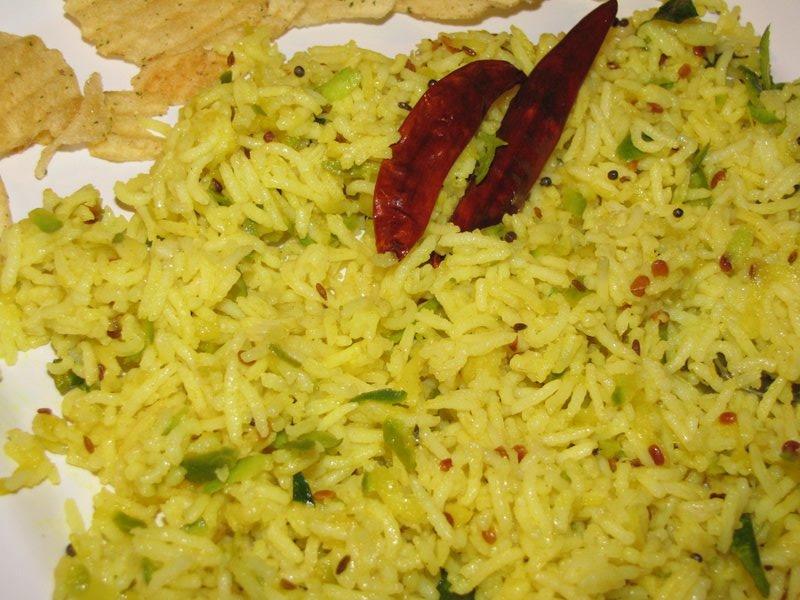 ... green mango rice mangai mango rice pulihora mango rice green mango