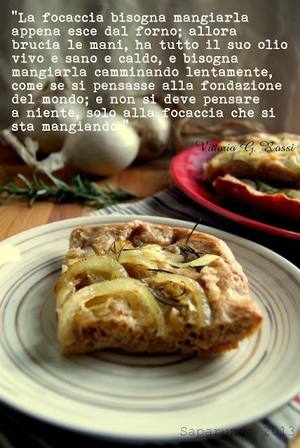 Focaccia con farina di castagne e semi di finocchio