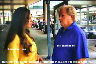 VIDEO-Inside Edition & Private Eye Bill Warner Track Murder Suspect to Newark Airport