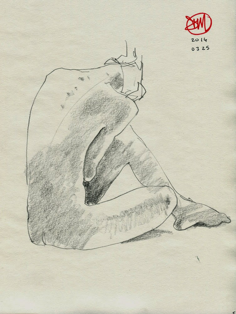 Pencil nude by David Meldrum
