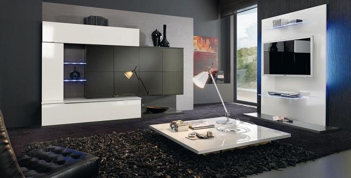 Wall beds ecuador muebles de sal n con luces led - Luces para salon ...