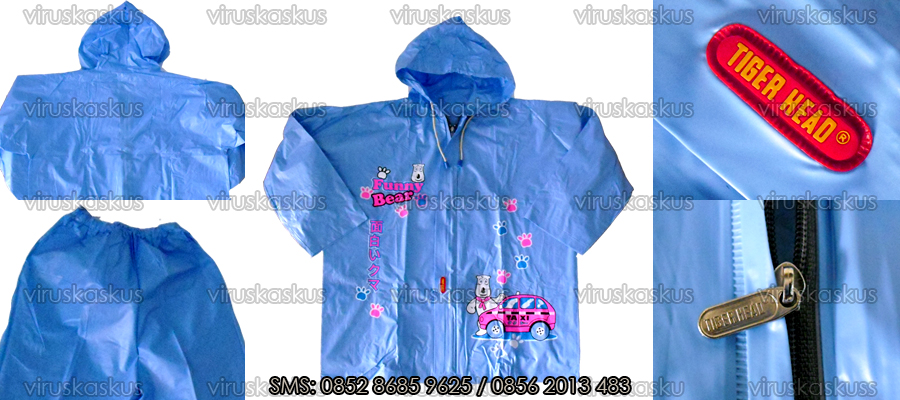 ORIGINAL [ Recommended ] Jas Hujan Anak, Ponco, Stelan, Double Head, Jubah Impor