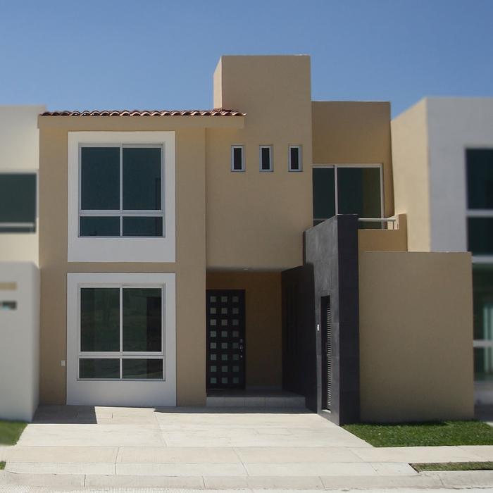 Fachadas mexicanas y estilo mexicano fachada estilo mexicano modelo b4 residencial bosque real - Fachadas casas minimalistas ...