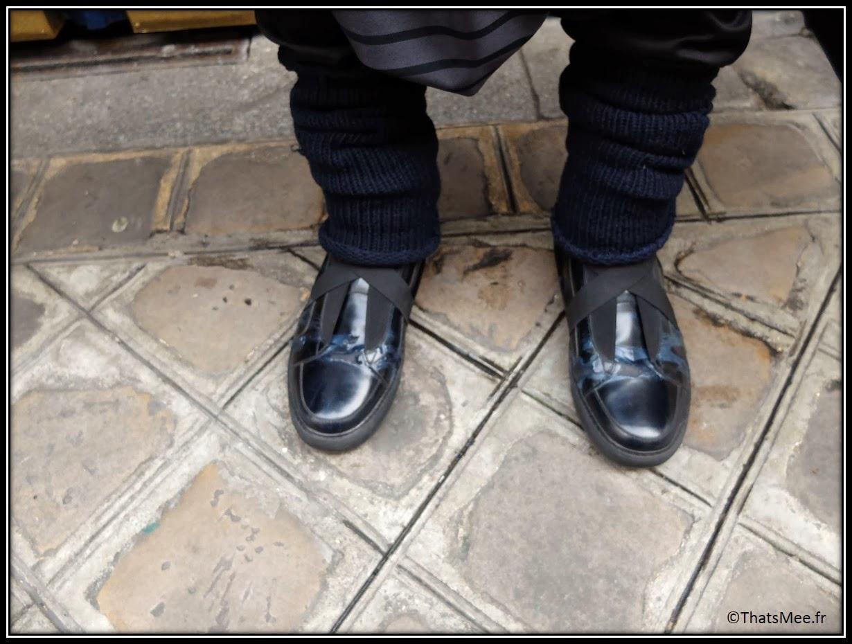 chaussures vernies homme noir et bleu Givenchy, Chang 13° marque allemande