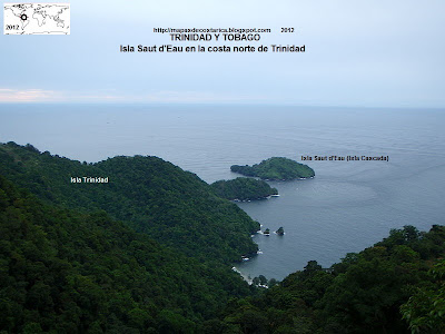 TRINIDAD Y TOBAGO, Isla Saut d'Eau en la costa norte de Trinidad, 