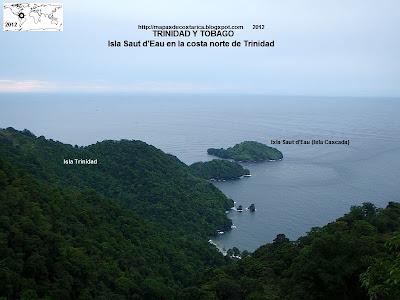 TRINIDAD Y TOBAGO, Isla Saut d'Eau en la costa norte de Trinidad,