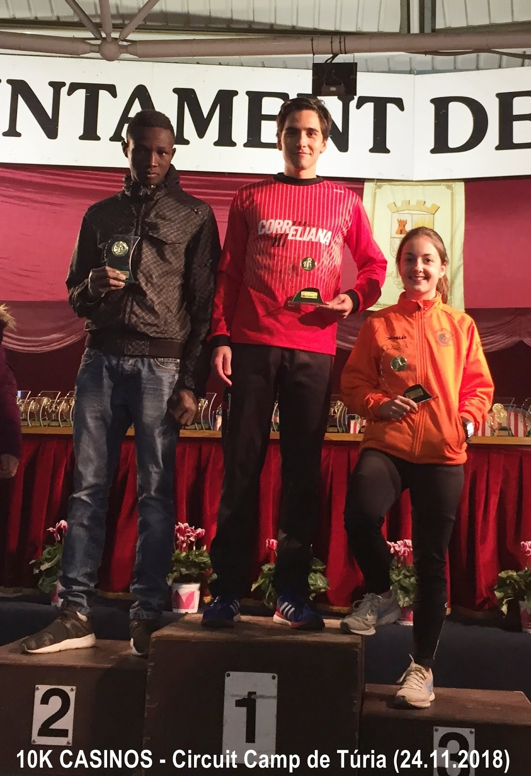 XAVI PONS RUBIO, 1º JUNIOR 2º ABSOLUT 10K CASINOS 2018