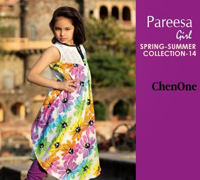 Pareesa Summer Dresses 2014-2015 For Kids