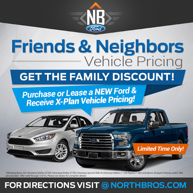 Ford Offers X Plan in Friends and Neighbors Pricing Event