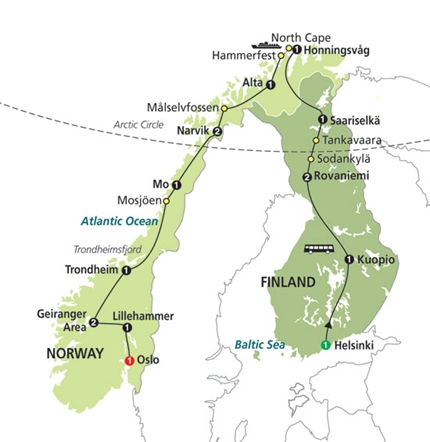 Ians Blog April - Norway map highlights