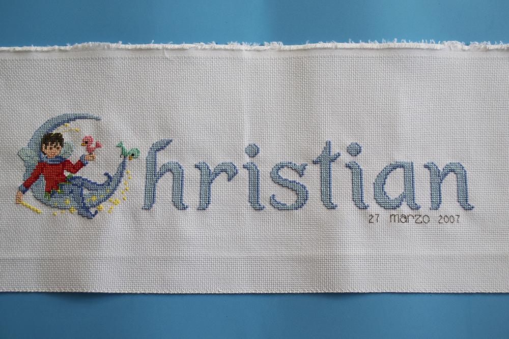 La aguja del Sur: Nombre bordado en punto de cruz para cuadro ...