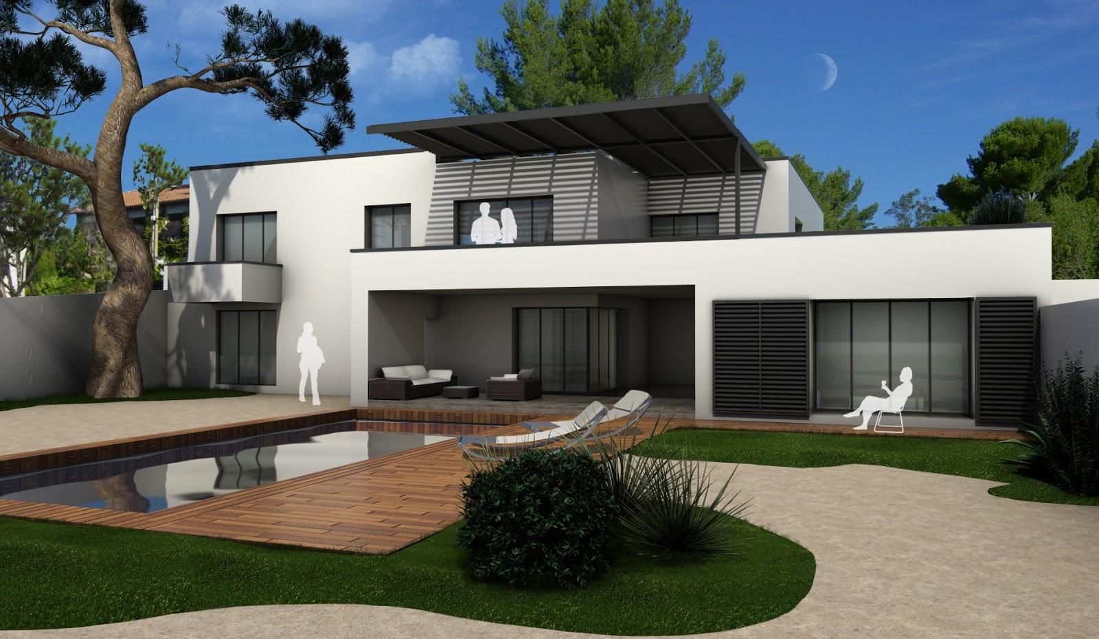 designer d 39 espace graphiste 3d architectural villa les angles gard at home architecture. Black Bedroom Furniture Sets. Home Design Ideas