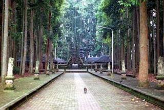 hutan monyet di sangeh, bali
