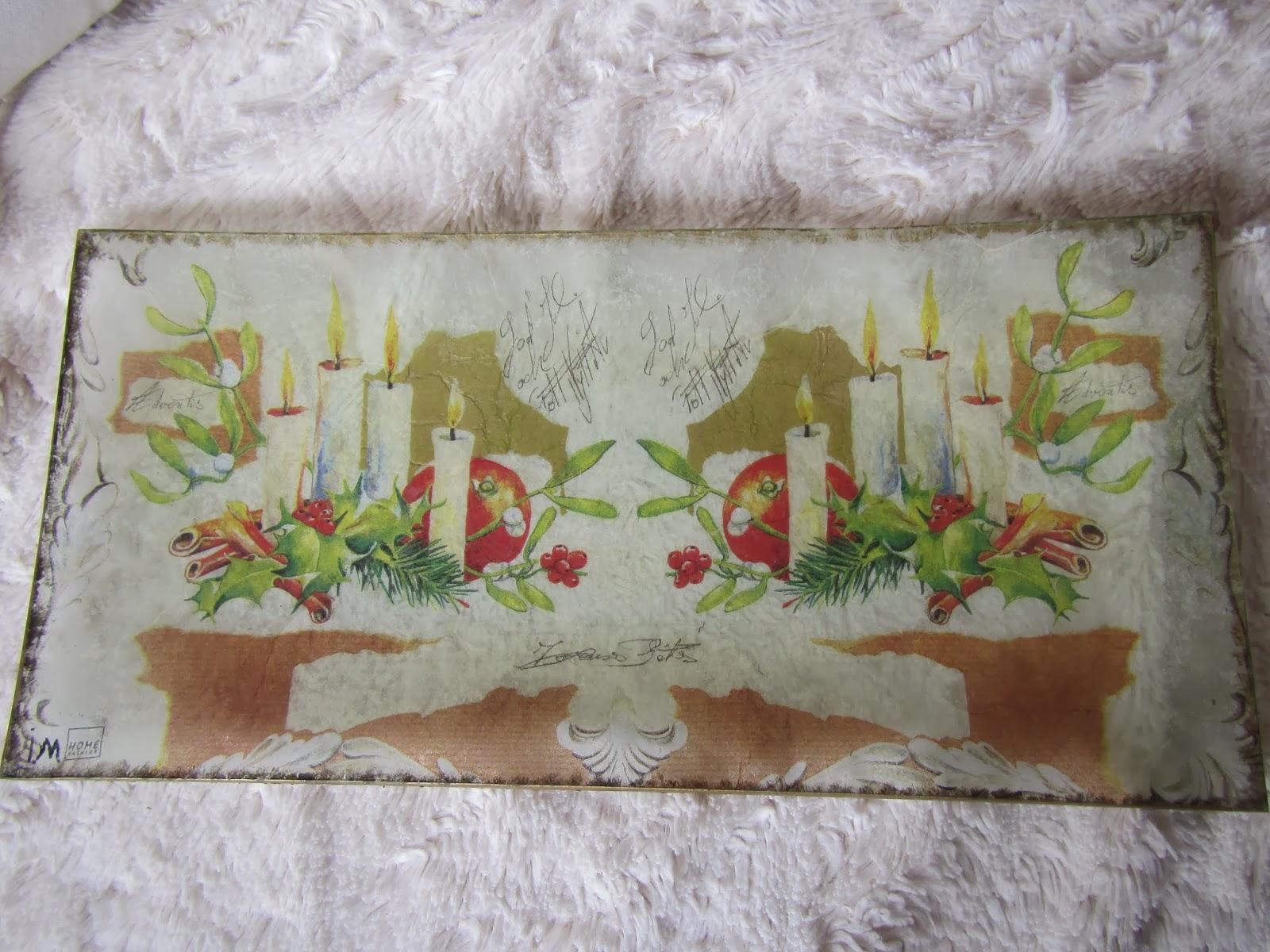 Las manualidades de inma bandejas de cristal - Servilletas decoradas de papel ...